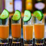 Aperol cucumber shot