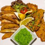 Fish and Chips sáfrányos borsos bundában