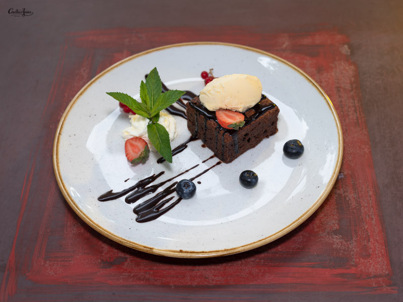 Brownies vanília fagyival